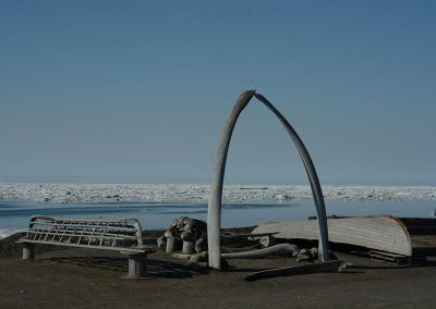 Whalebone arch - Point Barrow Refuge Station, Barrow, Alaska